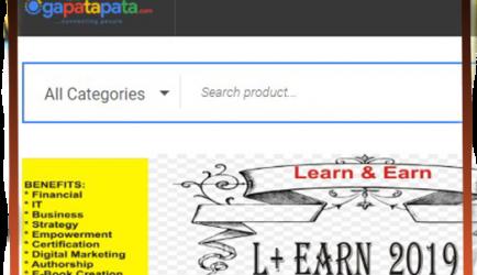 Ogapatapata-Web Design and development, e-commerce website