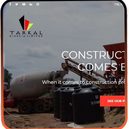 TARKAL NIGERIA LIMITED- web design and development